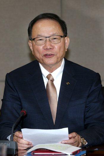 台塑董事長林健男。記者蘇健忠/攝影