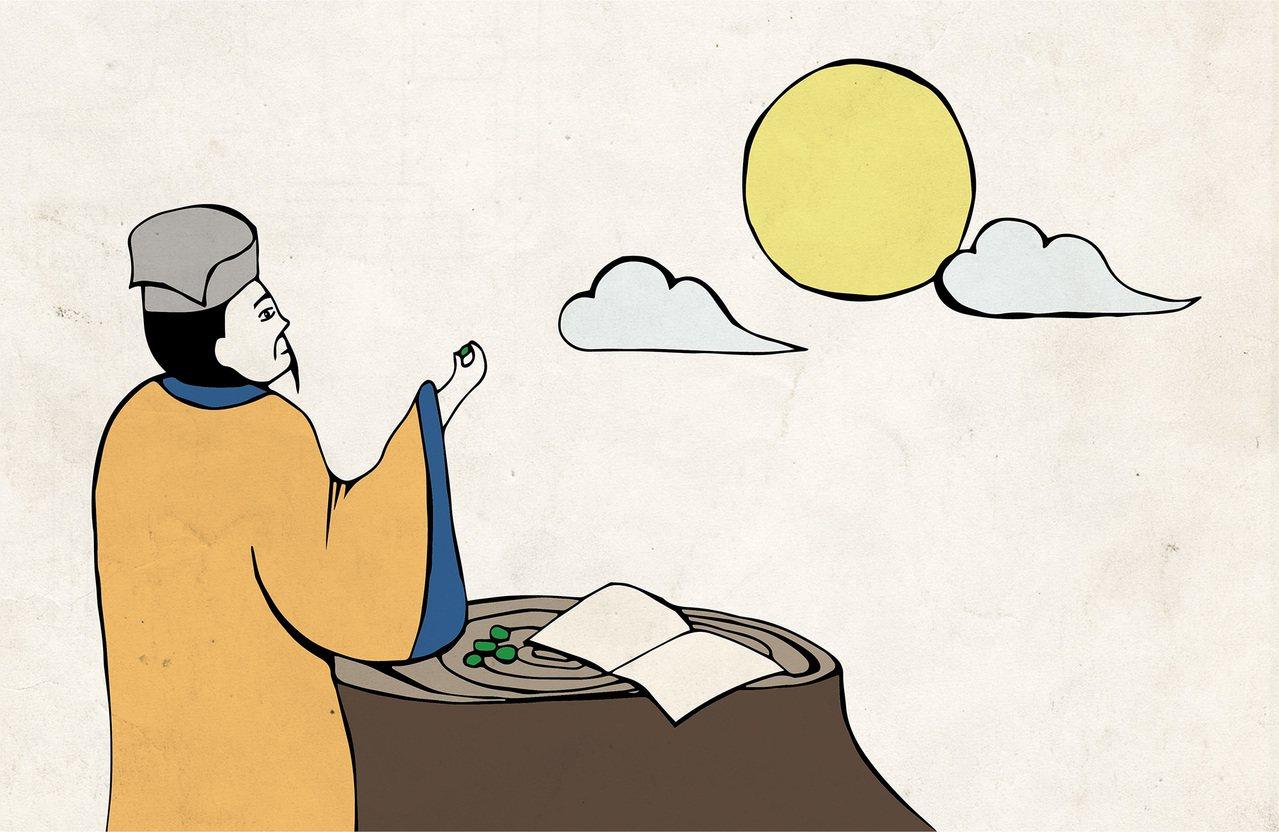蘇軾被貶官到海南島的時候,有沒有可能在邊賞月的時候,邊吃著檳榔呢?繪圖示意│...