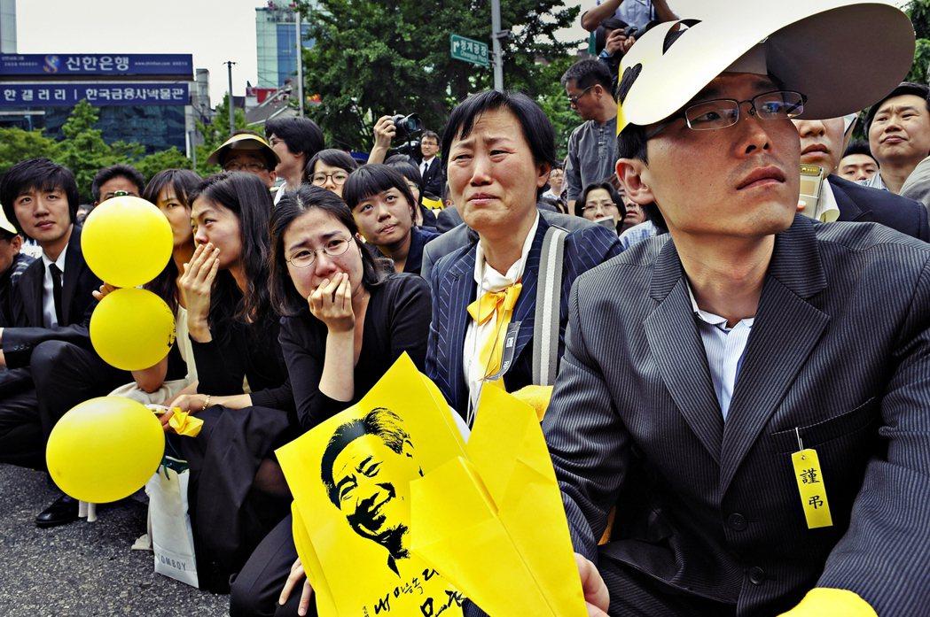 曹國被文在寅總統賦予司法改革的重責大任,目的是推動削減檢調權限。圖為2009年,...