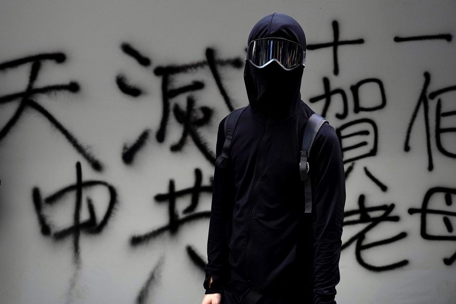 攝於10月1日,香港。 圖/美聯社