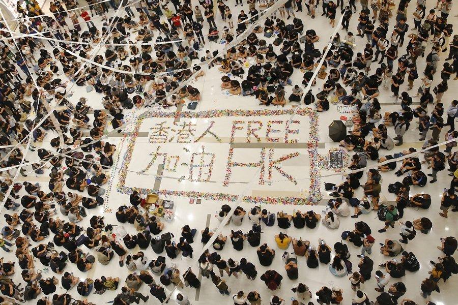 攝於10月2日,香港。 圖/歐新社