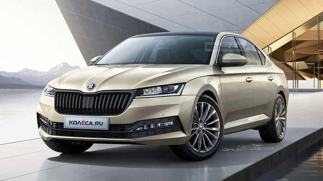 外媒Škoda Octavia預想圖。 摘自Motor1