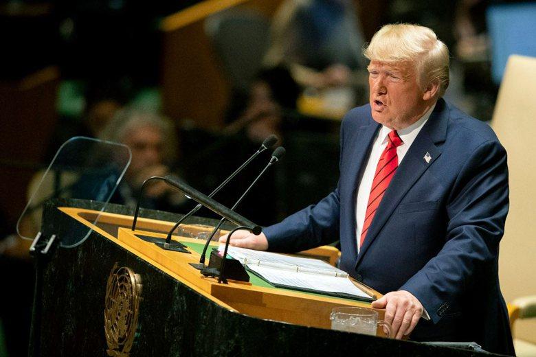 美國總統川普日前出席聯合國大會演說,劍指中共多項議題。 圖/美聯社