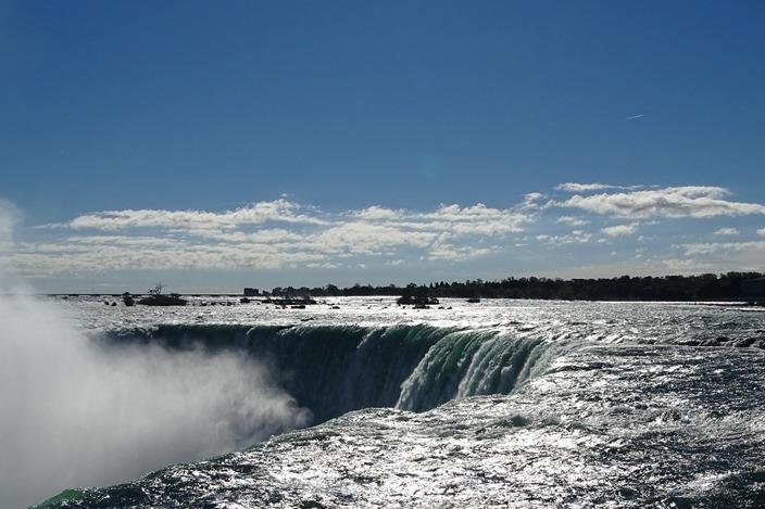 加拿大美國/尼加拉瀑布,雷神之水驚見彩虹