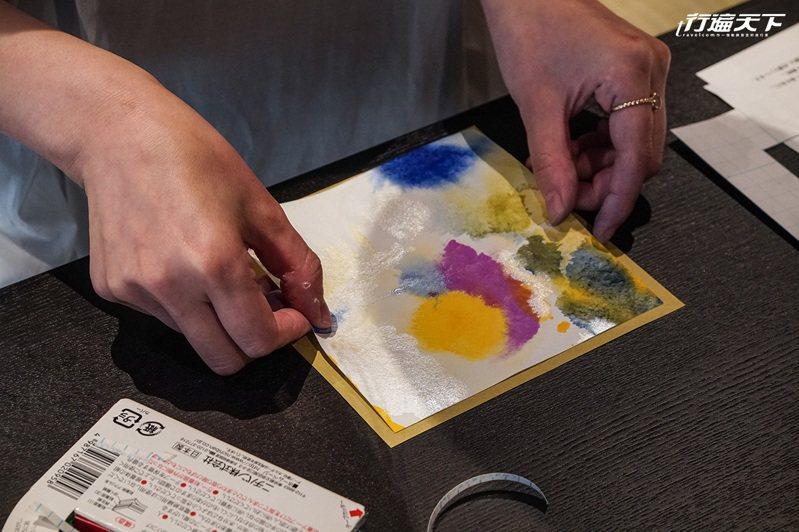 ▲最後取其最滿意之方框處,完成自己專屬京色彩卡片。