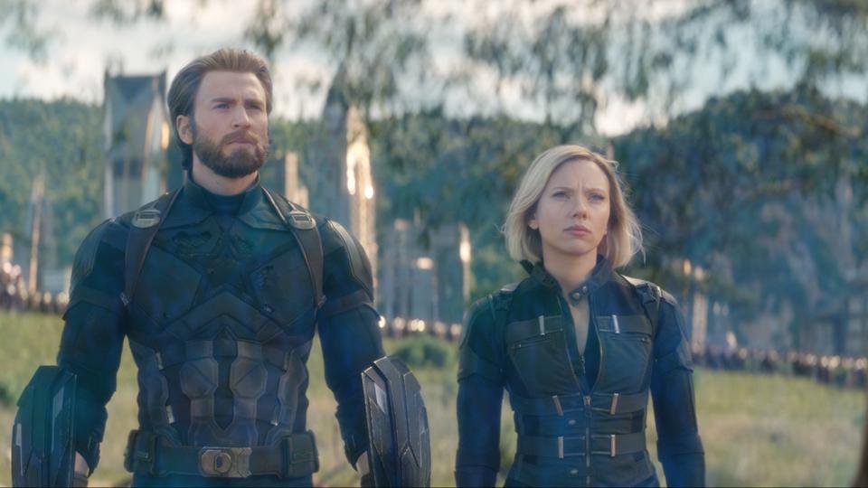 美國隊長與黑寡婦在「復仇者聯盟」系列影片中是合作無間的好搭檔。圖/摘自imdb