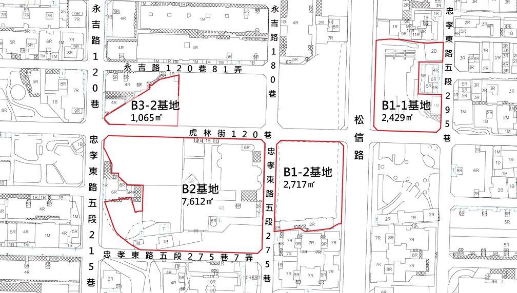 信義區兒福B1-1、B1-2都更案,今(3)日正式公告招商。圖/國家住都中心提供