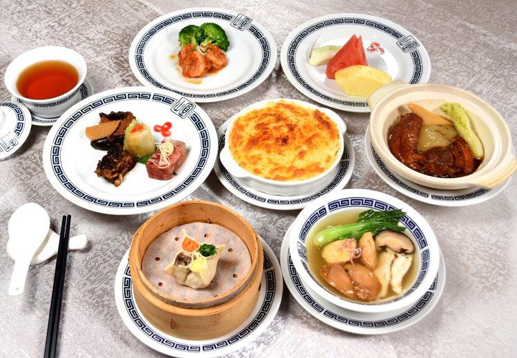 圓山大飯店圓苑餐廳的「元首餐」。圖/圓山飯店提供