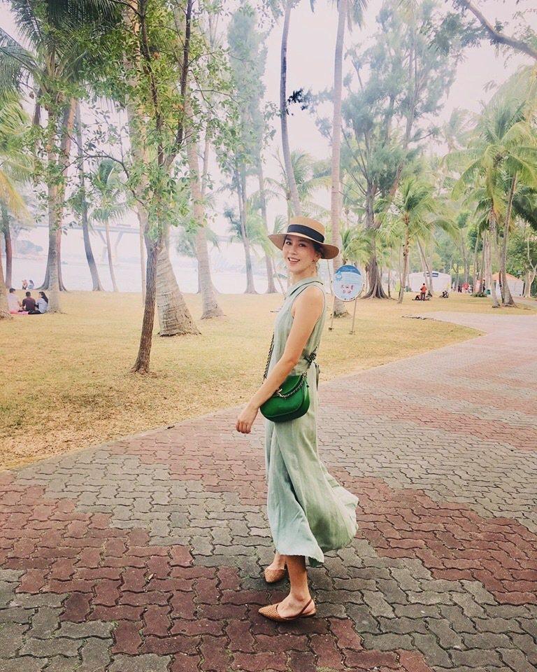 張家慧與家人到新加坡旅遊。圖/周子娛樂提供