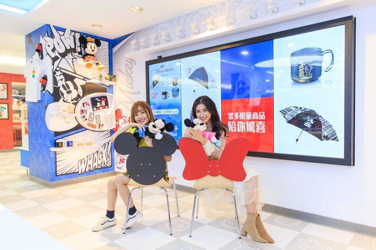7-ELEVEN「米奇與好朋友主題店」首次導入虛實整合體驗區,配備117.8吋觸...