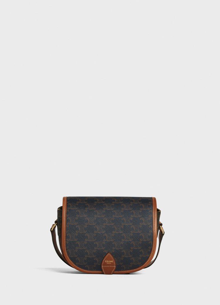 TRIOMPHE CANVAS帆布與小牛皮肩背書包,售價42,500元。圖/CE...