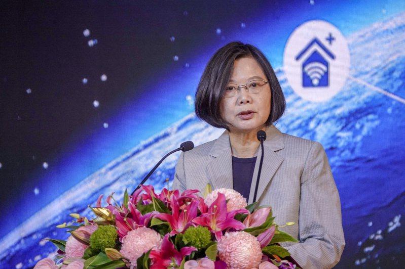 「中華電信5G試驗與培訓場域應用展示活動」上午在中華電信學院舉行,蔡英文總統蒞臨致詞。記者鄭超文/攝影