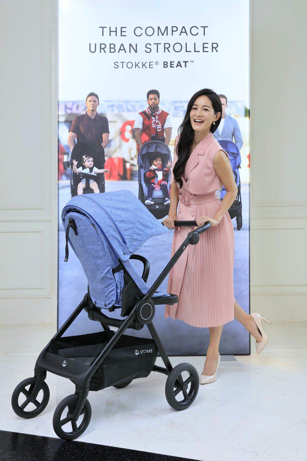 Janet為挪威高級嬰童用品名牌站台。圖/STOKKE提供