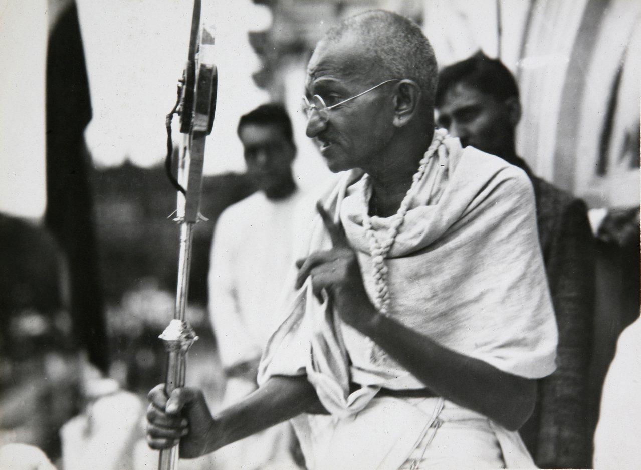 印度國父甘地。美聯社