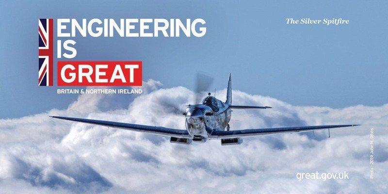 英國駐台代表處證實,噴火式戰機將於本月中旬過境台灣。圖/引自英國代表處臉書
