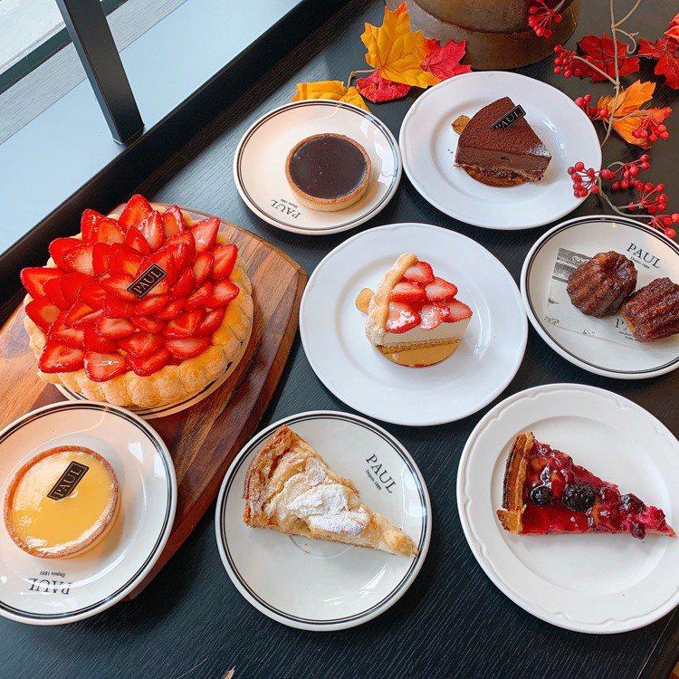 10/9起隔周三,七款美味的法式甜點買一送一。圖/PAUL提供