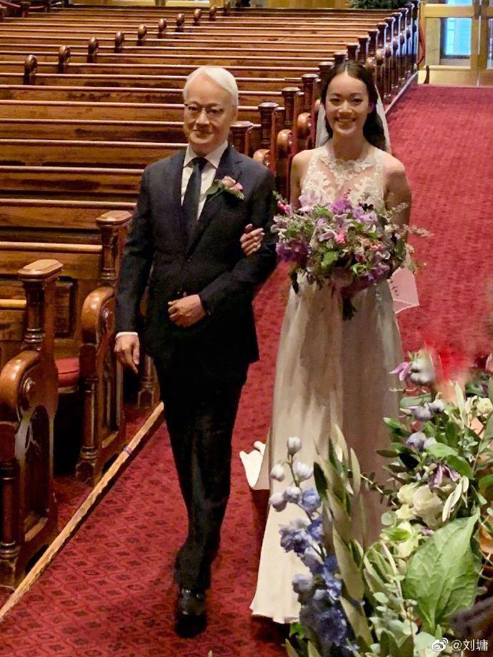 劉墉女兒劉倚帆(Yvonne)在上月28日低調出嫁。圖擷自「劉墉」微博