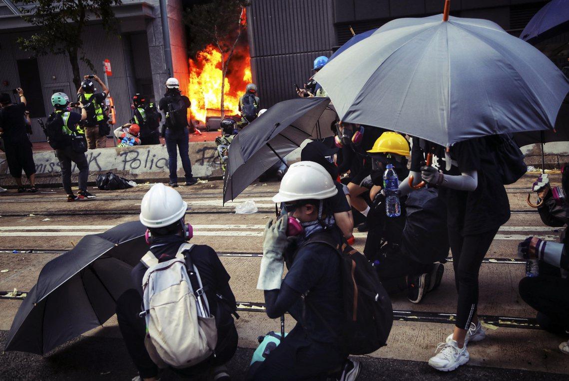 香港抗爭期間,示威者資料照片。 圖/歐新社