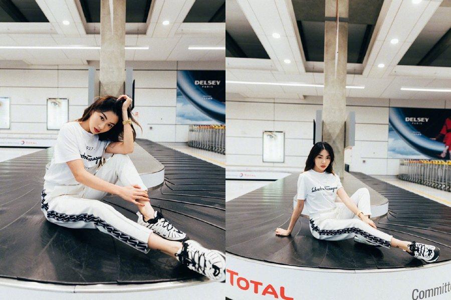 程曉玥分享行李遺失的慘事,但拍得照片卻引來網友質疑。 圖片來源/微博