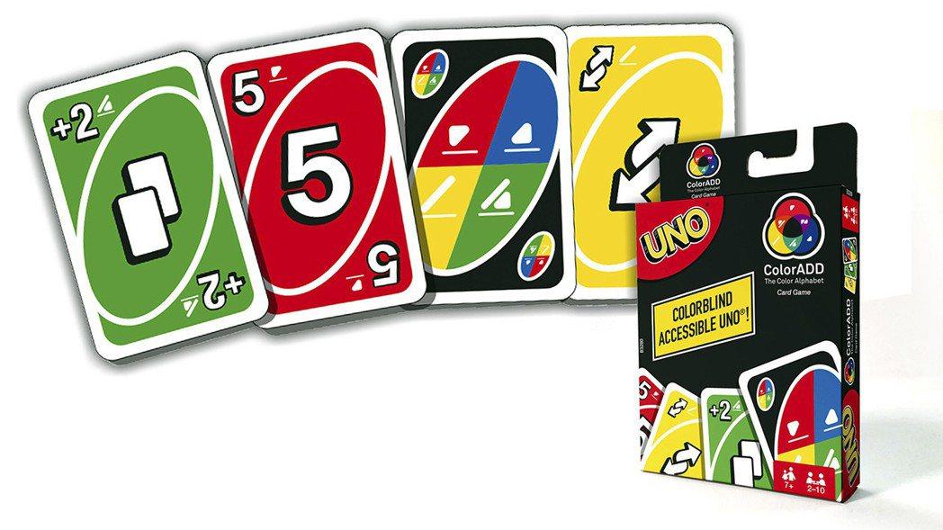 2017年《UNO》也推出了專為色盲、色弱者設計的卡牌版本,以解決紅、綠兩色難以...