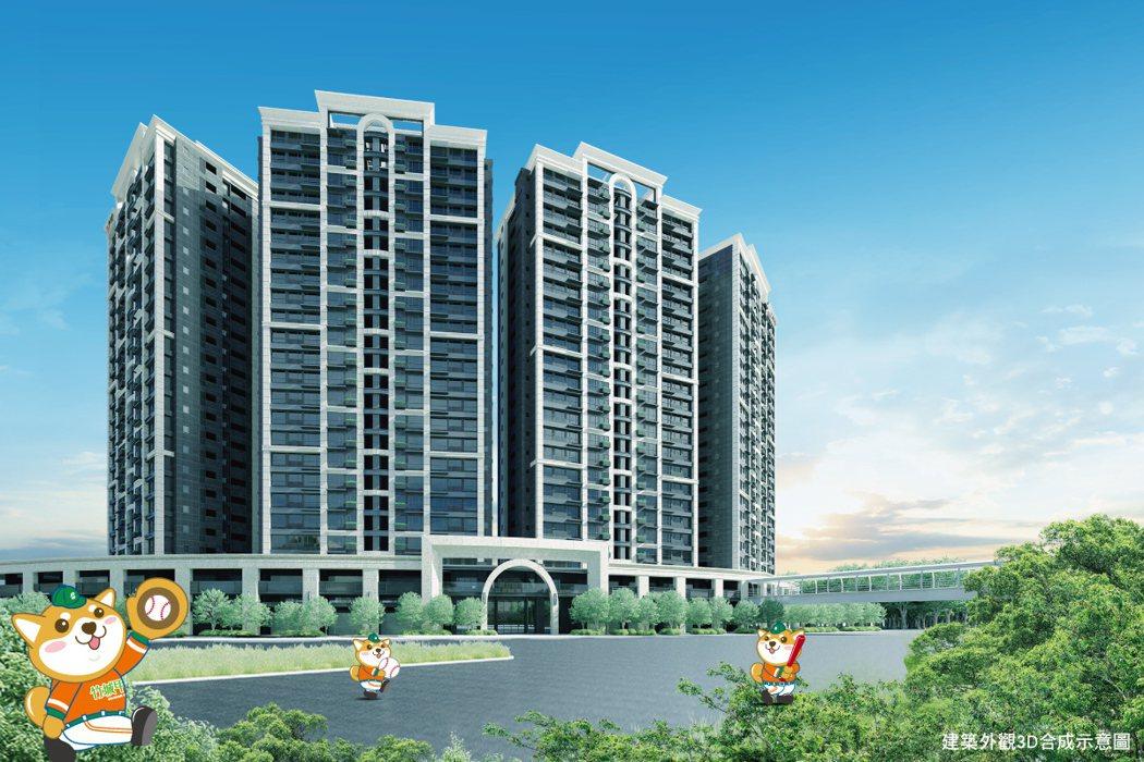 「竹城甲子園」精心打造實住格局,及24項全齡公設。 圖/竹城甲子園 提供