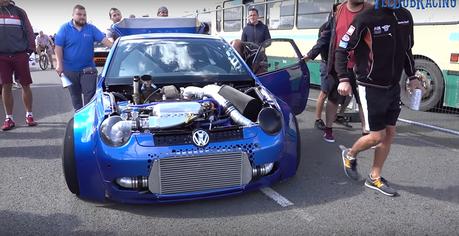 影/1,800匹馬力VW Lupo怎麼改的?超跑都追不上!