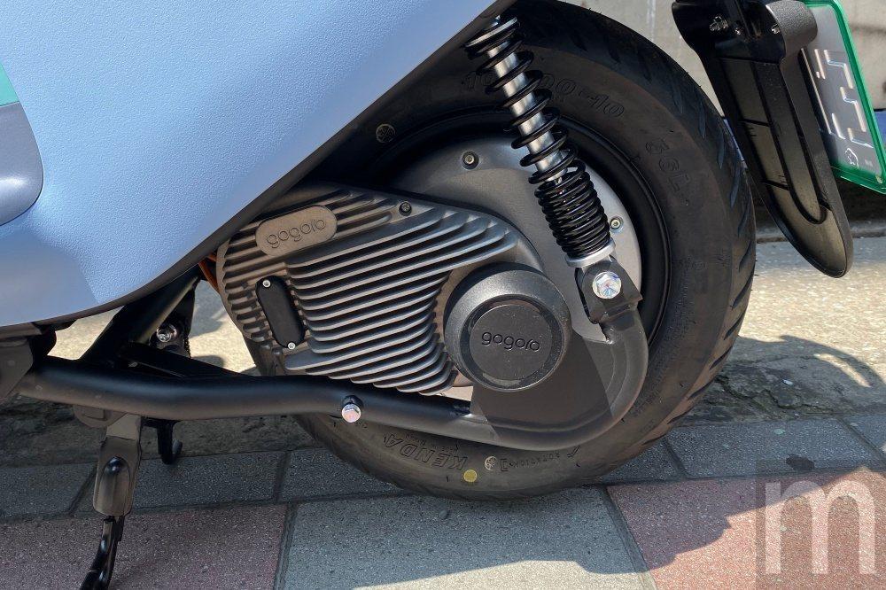 此次用於Gogoro VIVA的輪轂馬達,同樣採封閉設計,標榜不用更換齒輪油等耗...