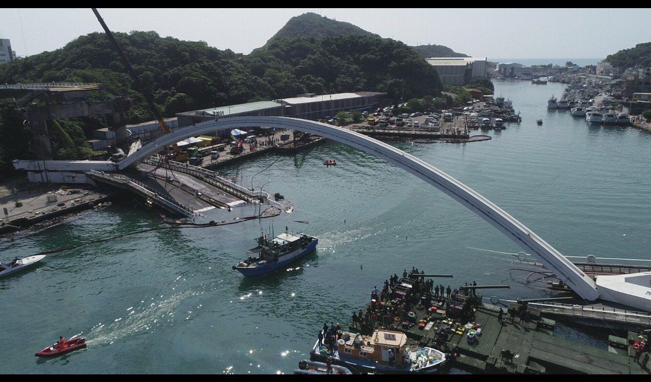 南方澳跨港大橋崩塌,外界才知港務公司轄下的橋梁幾乎是三不管地帶。本報資料照片