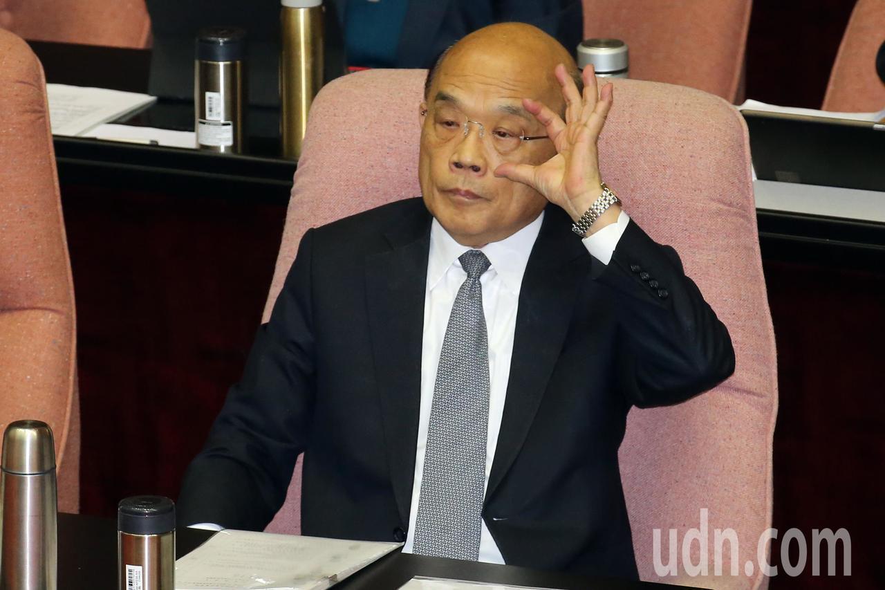 行政院長蘇貞昌上午赴立法院備詢。記者許正宏/攝影