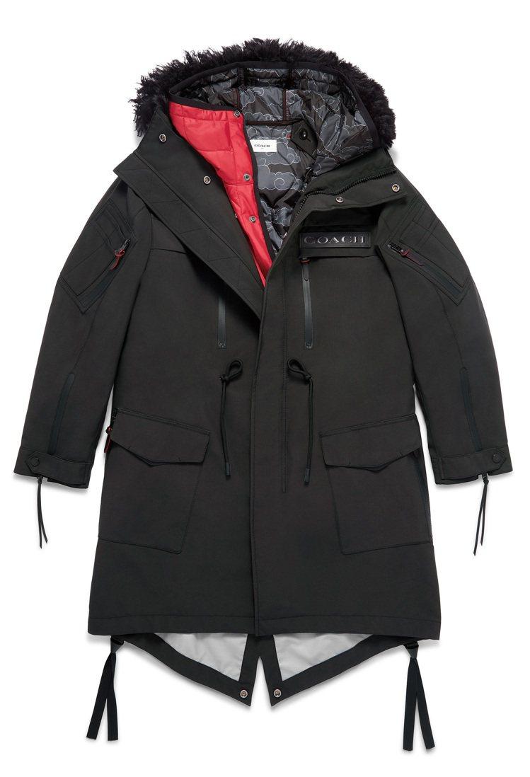 COACH X Michael B. Jordan派克大衣,售價59,800元。...
