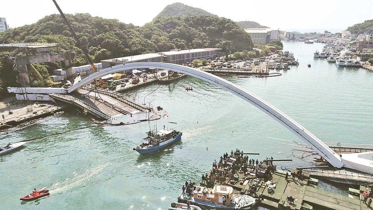 黃國昌指南方澳橋梁沒檢測吊材,結案檢測報告竟填「良好」。記者許正宏/攝影