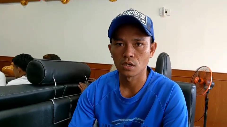 菲律賓籍漁工June Flores跳海逃生,直呼害怕。圖/讀者提供