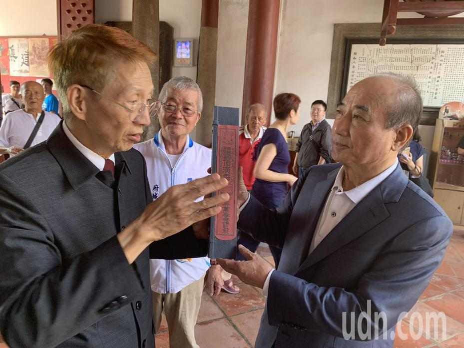 立法院前院長王金平(右)。記者鄭維真/攝影