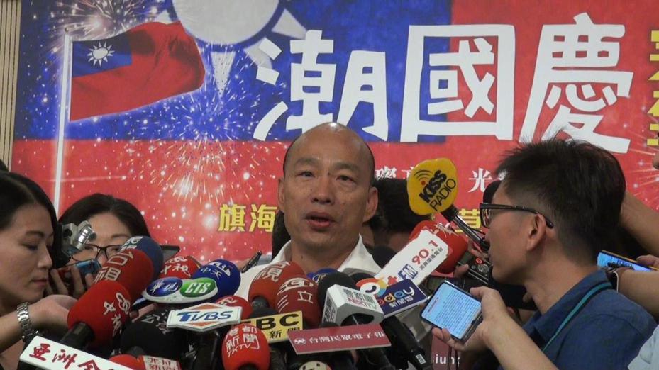 高雄市長韓國瑜今午受訪,要蔡英文總統反思,3年半的執政斷交連連,繼續尋求連任,有沒有詐騙行為。記者王昭月/攝影