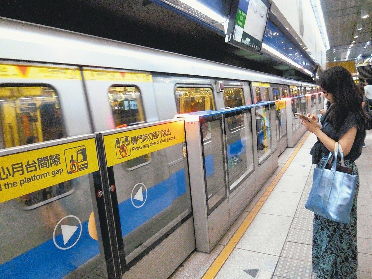 台北捷運。圖/報系資料照