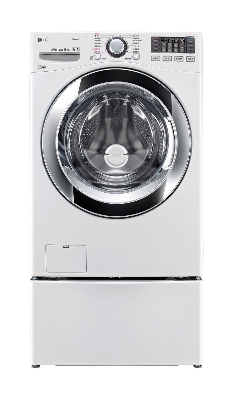 LG TWIN WASH雙能洗(上置18KG蒸氣洗脫烘滾筒洗衣機,下搭2.5KG...