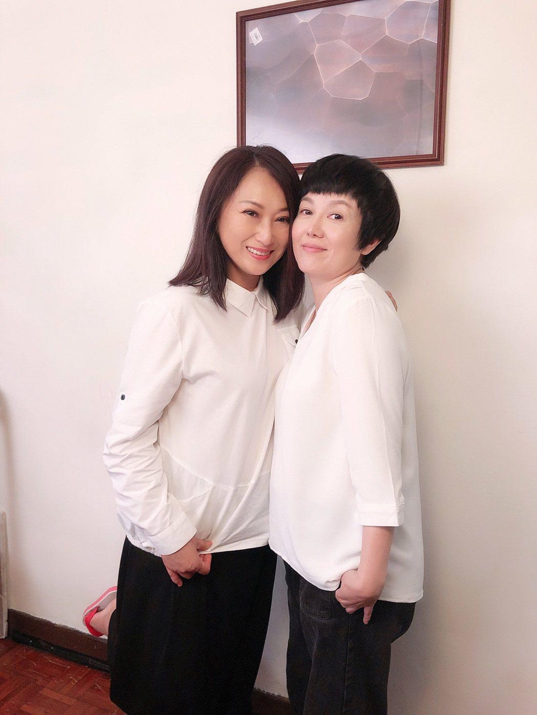 王瑞霞新歌MV,邀好友苗可麗擔綱女主角。圖/米樂士娛樂提供