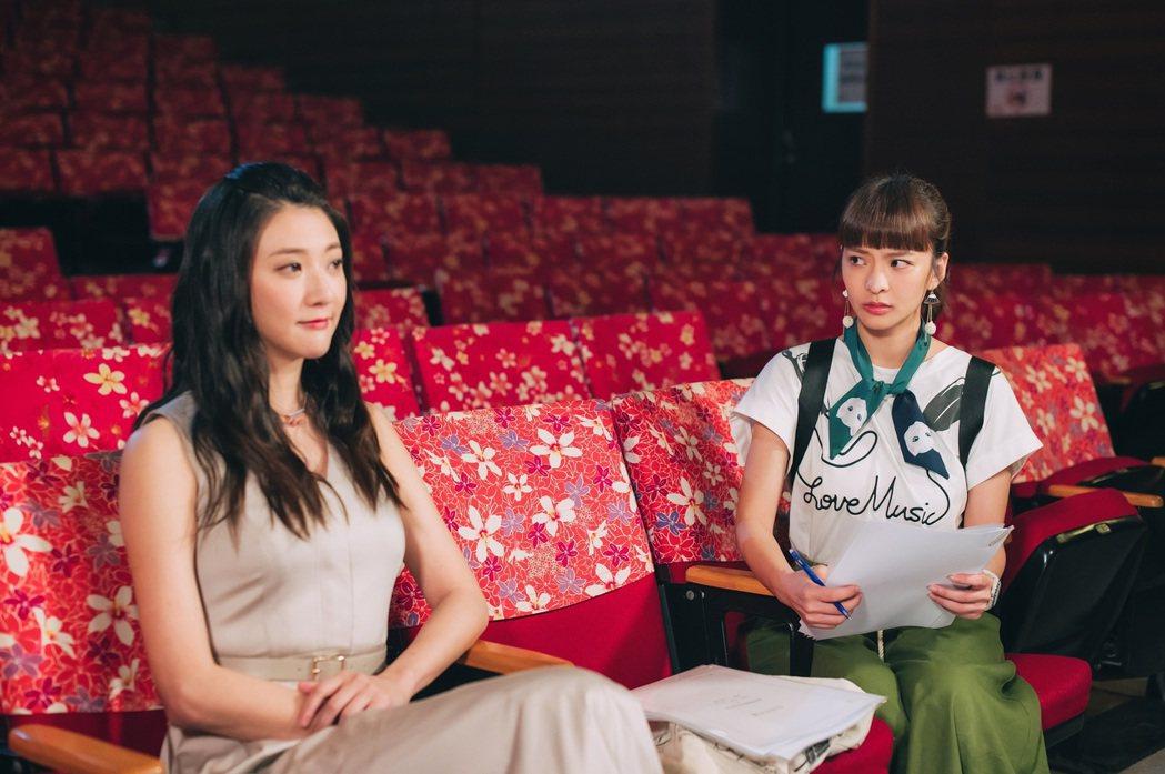 林逸欣(左)在「男神時代」戲中與葉星辰攤牌。圖/東森提供