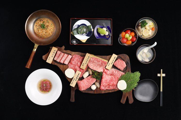 樂軒和牛專門店供應有和牛燒肉套餐。圖/樂軒提供