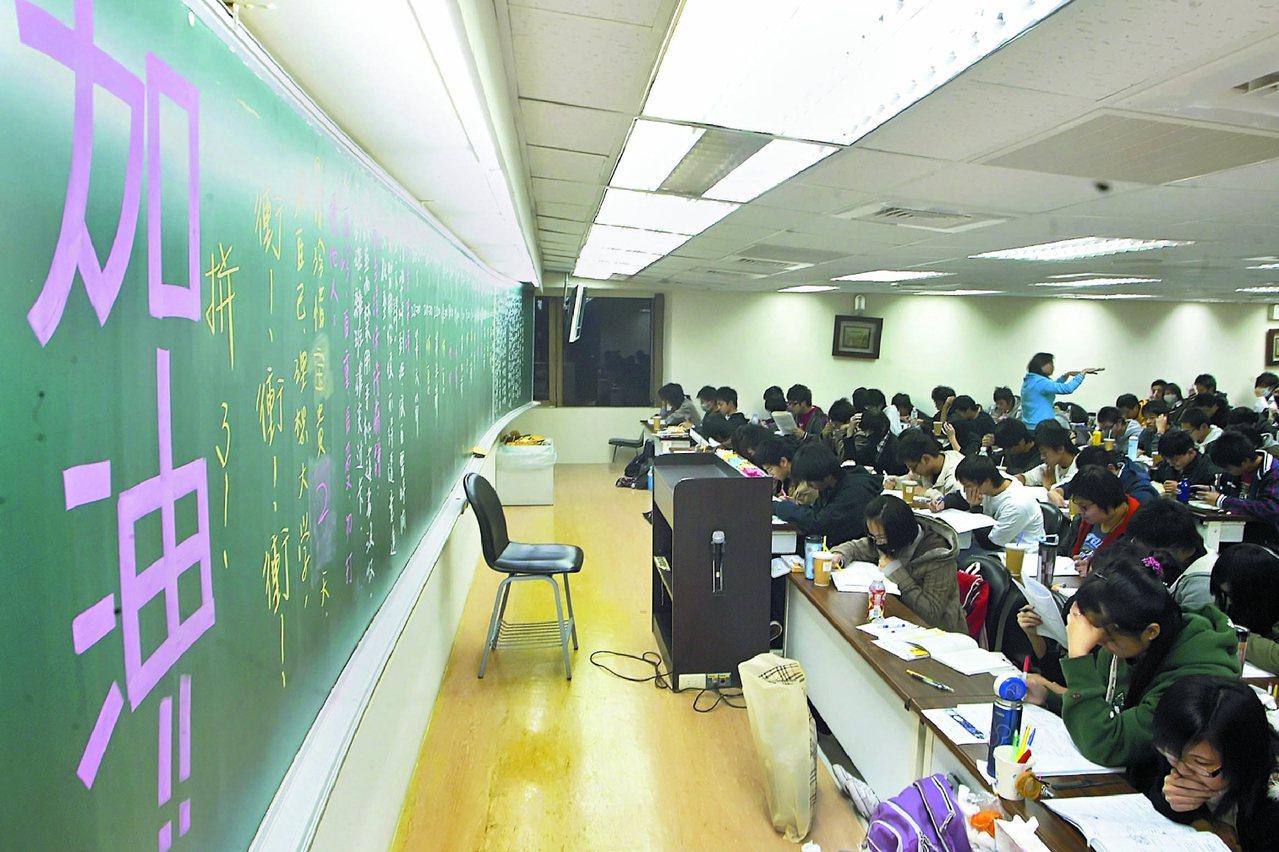 目前高二生是適用舊課綱的最後一屆,將來重考大學難度高,各校紛提醒要收心,高二不要...