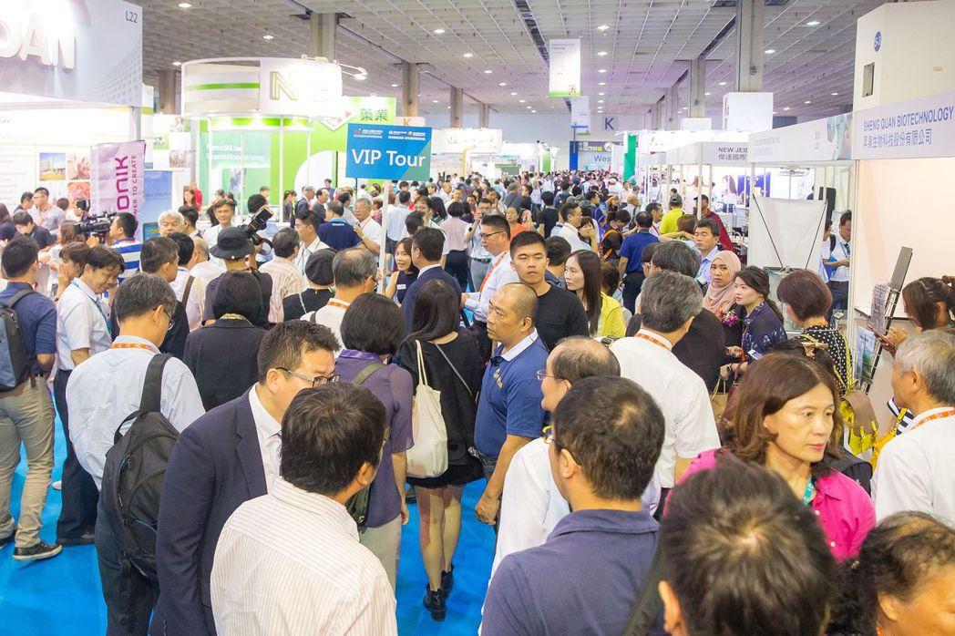 博聞台灣舉辦的第二屆亞太區農漁畜技術展吸引眾多人潮參觀大獲好評  博聞台灣/提供