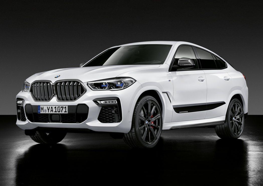 第三代BMW X6穿搭專屬的M Performance套件,而碳纖維材質的水箱護...