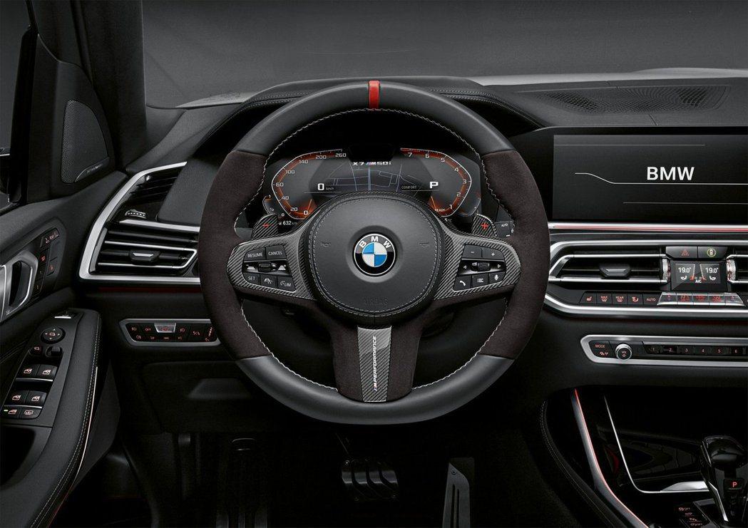 換上M Performance套件的BMW X7內裝。 摘自BMW