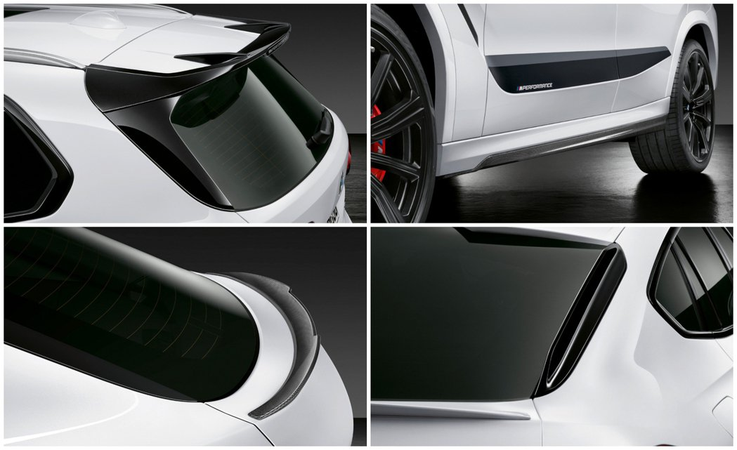 BMW X5 M裝上了大型M Performance車頂尾翼,至於BMW X6 ...