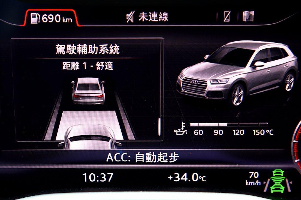 同時ACC主動式定速巡航控制還具備停止再啟動跟隨前車的全速域功能。 記者張振群/...