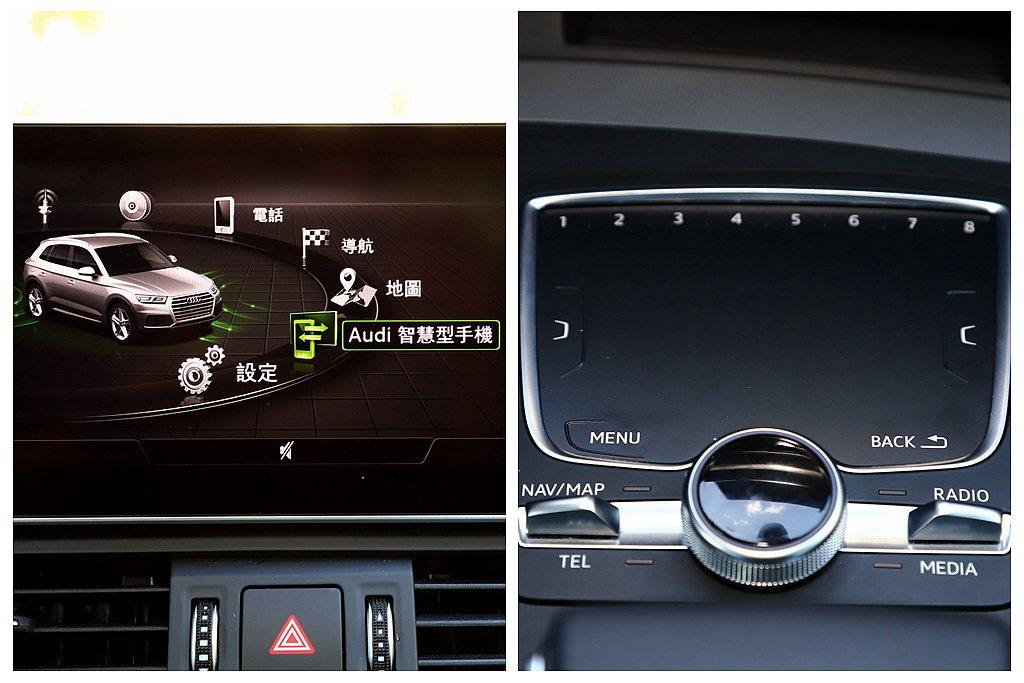 中央8.3吋彩色螢幕內含MMI navigation plus多媒體系統,有中文...