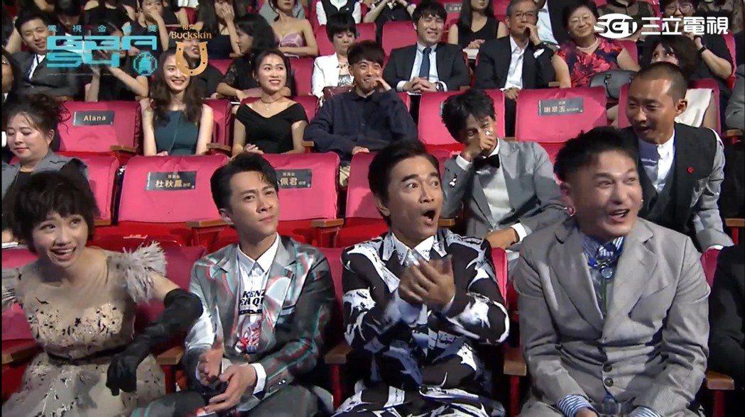 吳宗憲(前右二)與Kid被爆,典禮沒結束,確定沒得獎就離場了。圖/摘自網路