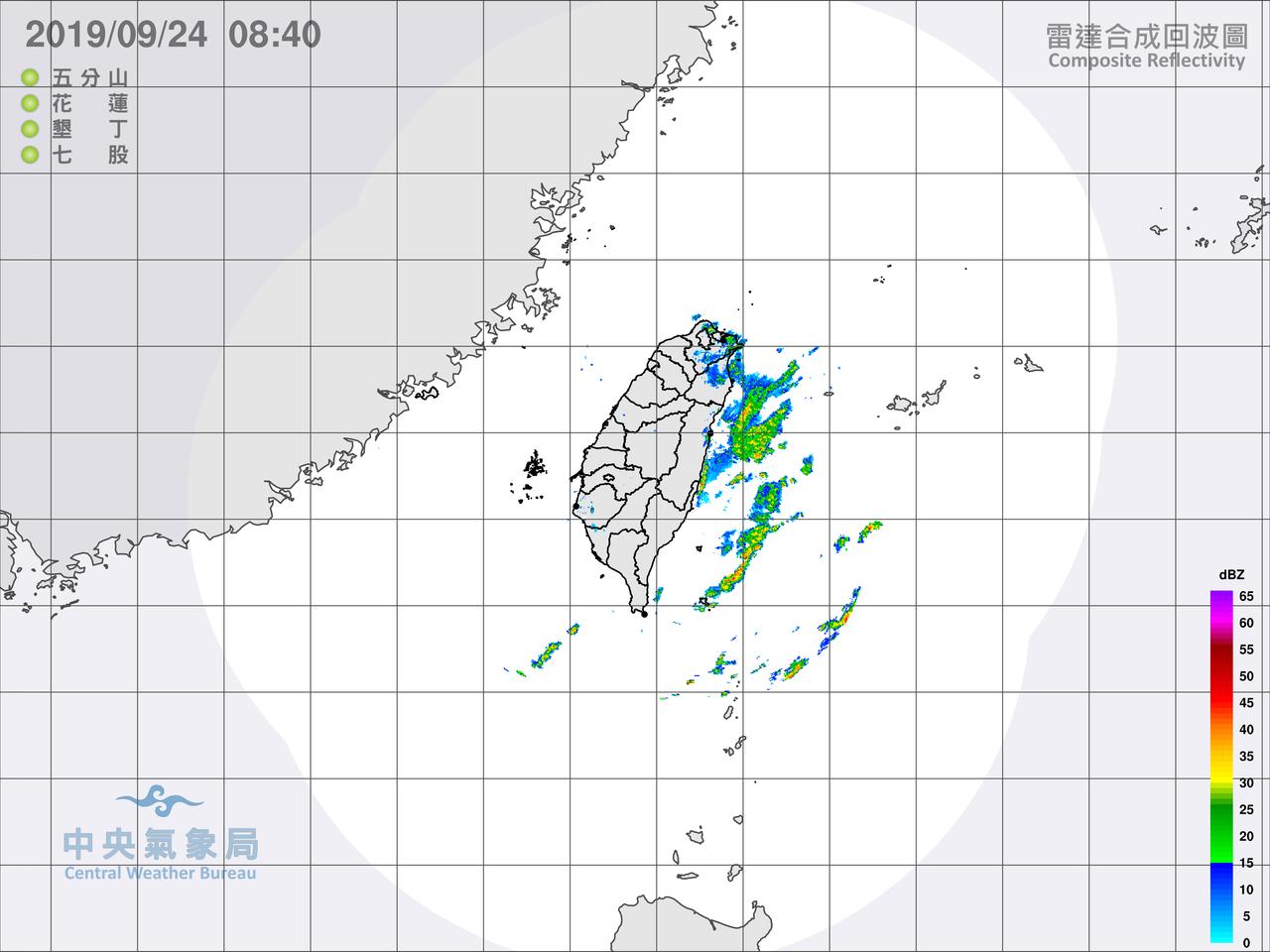 各地天氣穩定,但晚間北部、東半部要留意局部大雨。圖/氣象局提供
