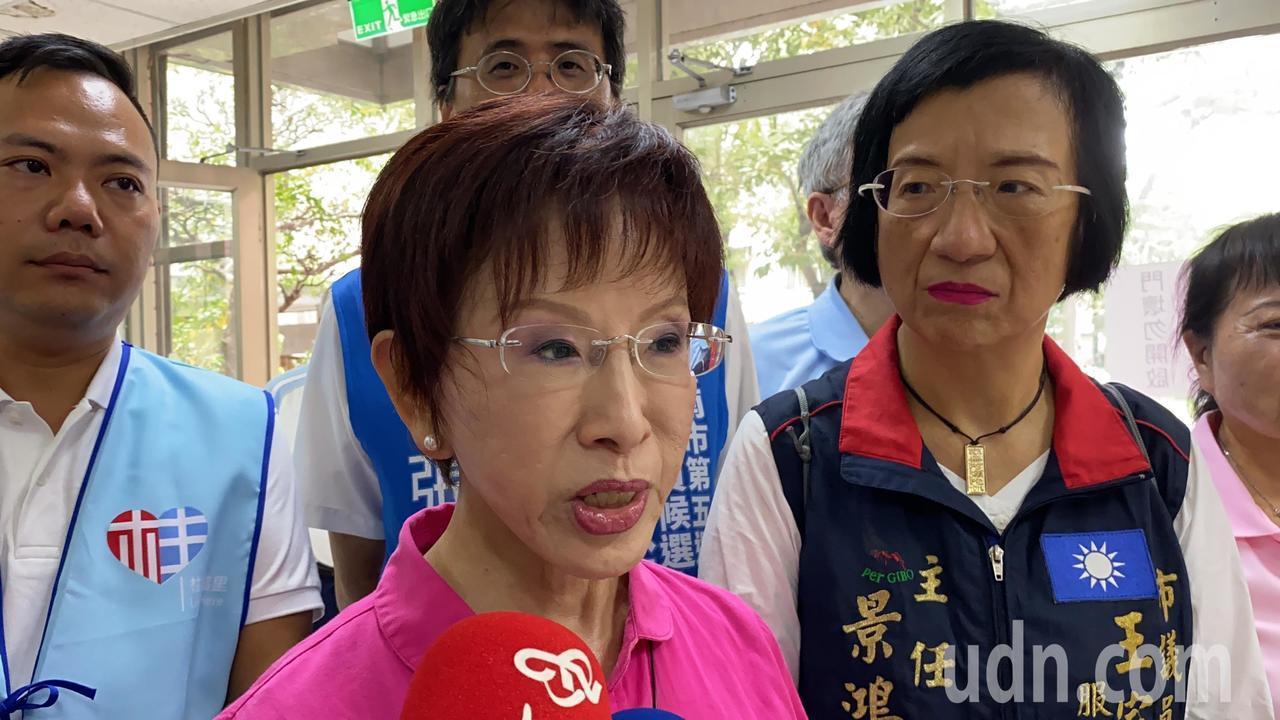國民黨前主席洪秀柱參選台南市立委。記者鄭維真/攝影
