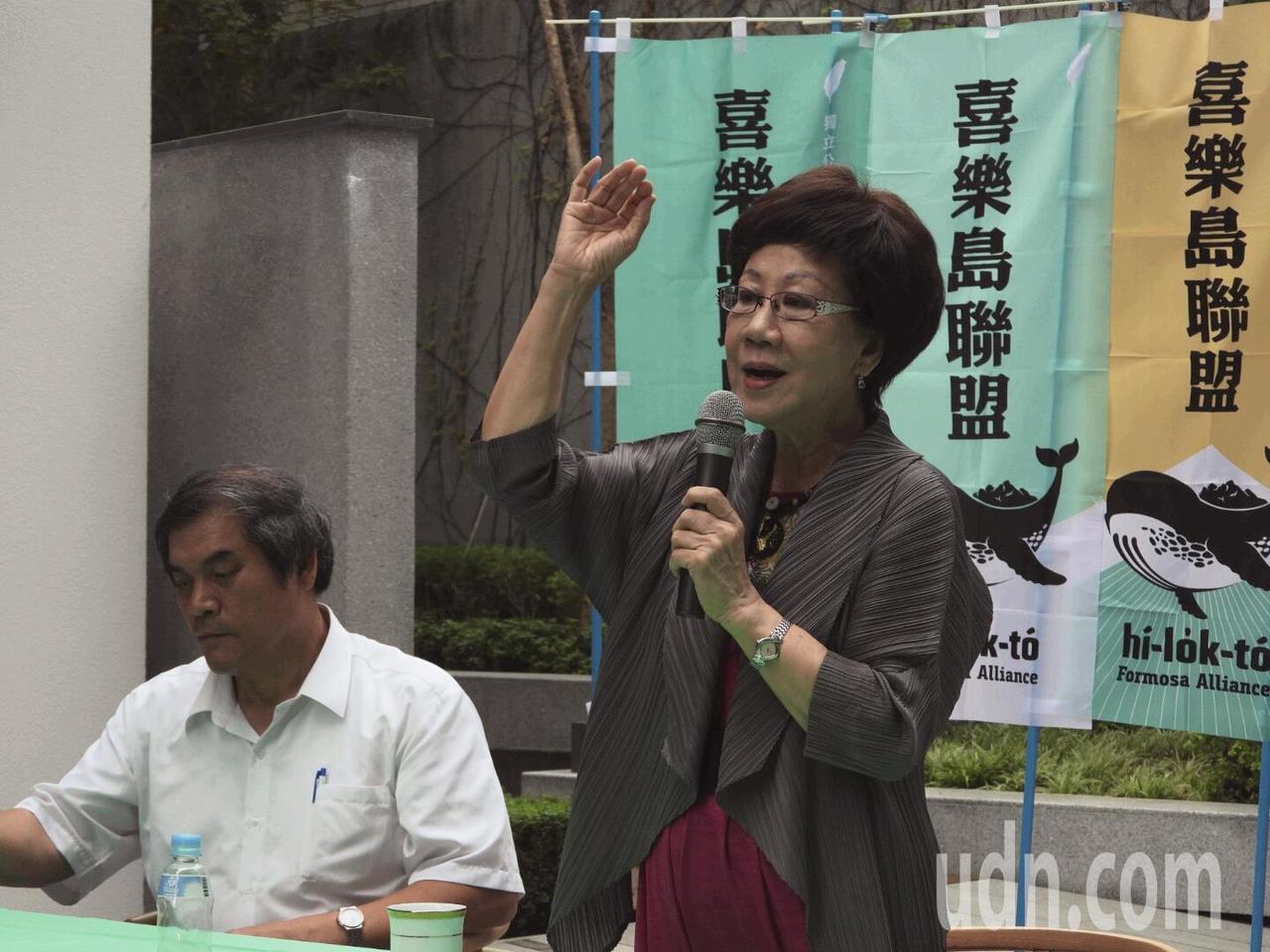 呂秀蓮上午到台南市舉辦第一場連署說明會,下午將到高雄市。記者周宗禎/攝影